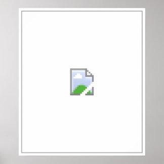 Icono quebrado de la imagen del Internet Póster