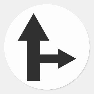 icono recto y correcto de la flecha etiquetas redondas
