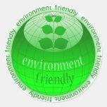 Icono redondo de Eco con el globo verde Etiquetas