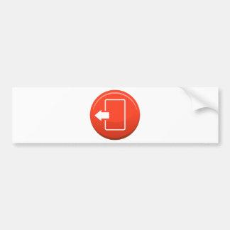 Icono redondo rojo del botón de la puerta de pegatina para auto