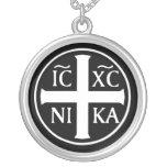 Icono religioso cristiano ICXC NIKA Christogram Joyería