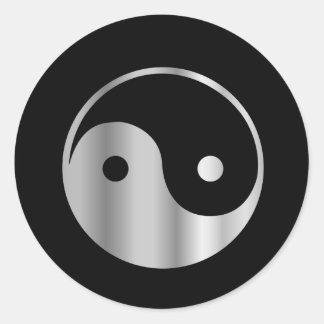 Icono religioso del daoism Ying y de Yang del taoi Etiqueta Redonda