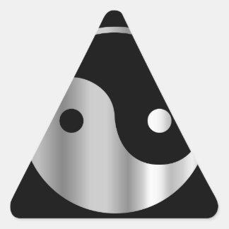 Icono religioso del daoism Ying y de Yang del taoi Colcomanias Trianguladas Personalizadas