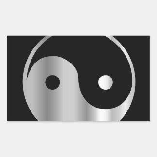 Icono religioso del daoism Ying y de Yang del taoi Rectangular Pegatinas