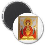 icono religioso Maria santa y niño Imanes