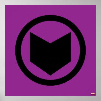 Icono retro de Hawkeye Póster