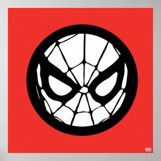 Icono retro de Spider-Man Póster