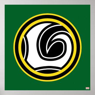 Icono retro del Loki Póster