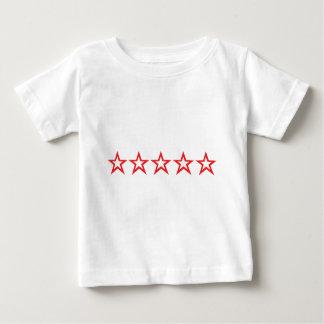 icono rojo de cinco estrellas playeras