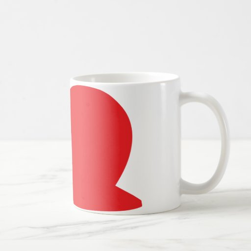 icono rojo de la barra taza
