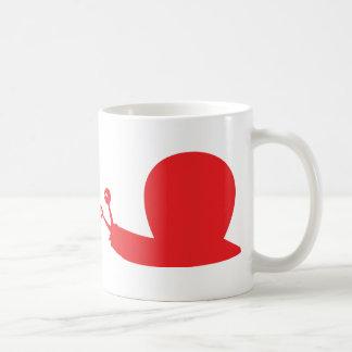 icono rojo de la barra taza de café
