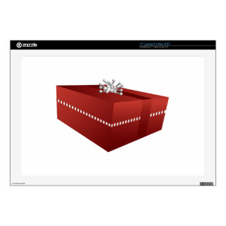 Icono rojo de la caja de regalo skins para portátiles