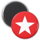 Icono rojo de la estrella imanes de nevera