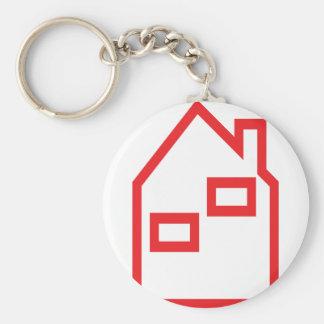 icono rojo de las propiedades inmobiliarias de la  llavero personalizado