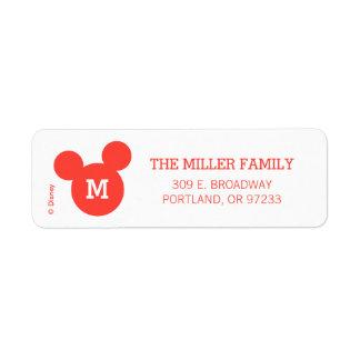 Icono rojo de Mickey y de Minnie el   Ho Ho Ho con Etiquetas De Remite