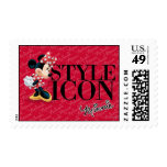 Icono rojo del estilo de Minnie el   Sello Postal