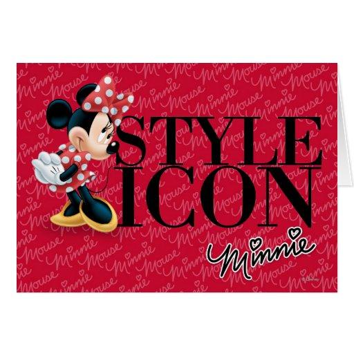 Icono rojo del estilo de Minnie el   Tarjeta De Felicitación