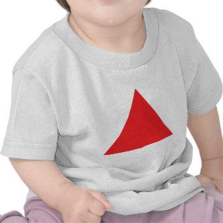 icono rojo del triángulo camisetas
