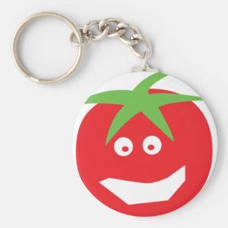 icono rojo divertido del tomate llavero