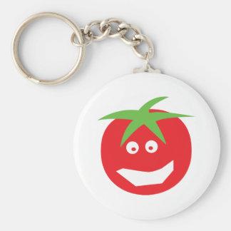 icono rojo divertido del tomate llaveros personalizados
