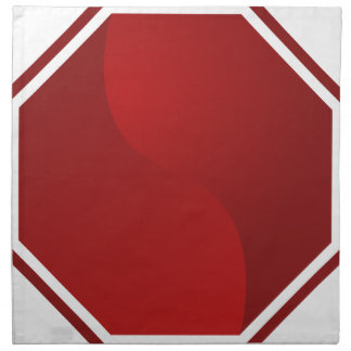 Icono rojo en blanco de la parada de la señal de servilleta