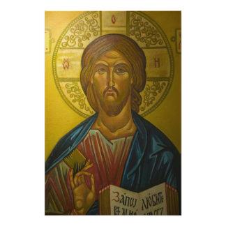Icono ruso dentro de la iglesia de St. Sophia/ Fotografía