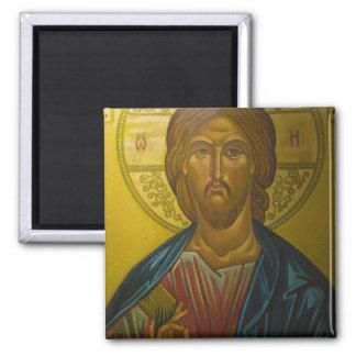 Icono ruso dentro de la iglesia de St. Sophia/ Imán Cuadrado