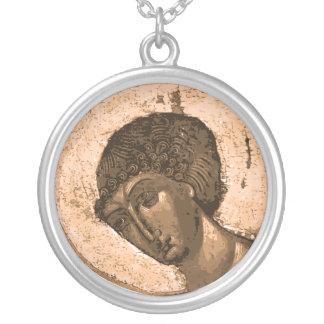 Icono ruso: San Jorge el mártir Colgante Redondo