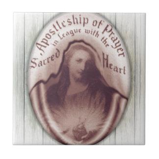 Icono sagrado de la placa de la pared de colgante  teja cerámica