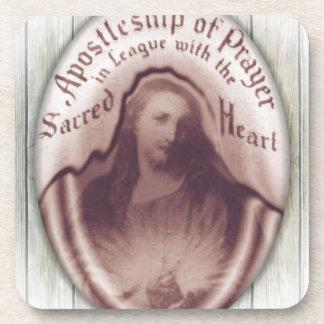 Icono sagrado de la placa de la pared de colgante  posavasos