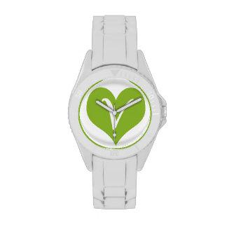 Icono simple del vegano relojes de pulsera