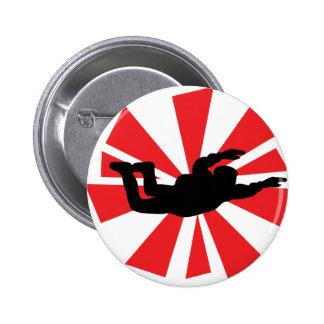 icono skydiving del skydiver pins