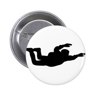 icono skydiving del skydiver pin