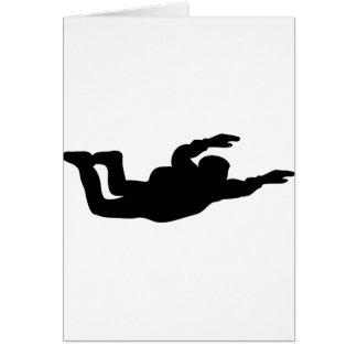 icono skydiving del skydiver tarjeta de felicitación