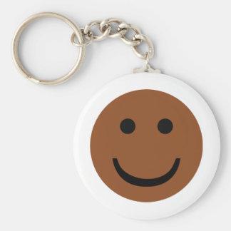 Icono sonriente afroamericano llaveros personalizados