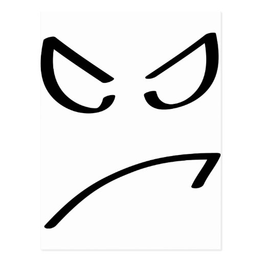 icono sonriente enojado postal