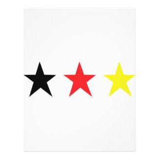 icono triple alemán de la estrella flyer a todo color