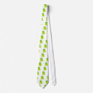 Icono verde de la llama corbatas personalizadas