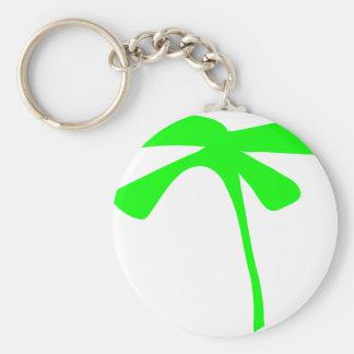 icono verde de la palma llaveros