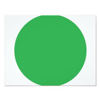 """icono verde del punto invitación 4.25"""" x 5.5"""""""