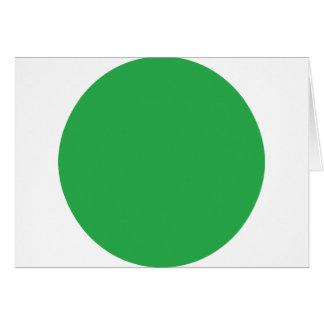 icono verde del punto tarjeta de felicitación