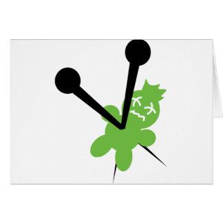 icono verde del vodoo tarjetas