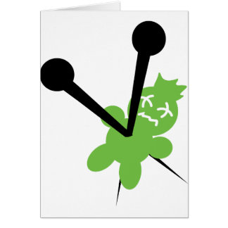icono verde del vodoo tarjeta