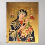ICONO - Virgen y bebé Jesús y POSTER de los ángele