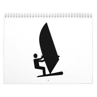 Icono Windsurfing Calendario