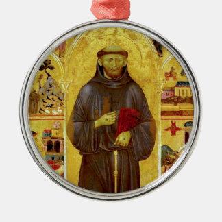 Iconografía medieval de los Franciscos de Asís del Adorno Redondo Plateado