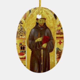 Iconografía medieval de los Franciscos de Asís del Adorno Ovalado De Cerámica