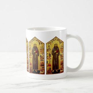 Iconografía medieval de los Franciscos de Asís del Taza Básica Blanca