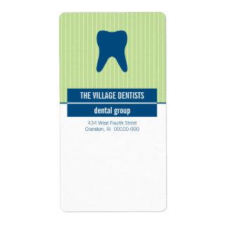 Iconographic Blue Green Dental Label