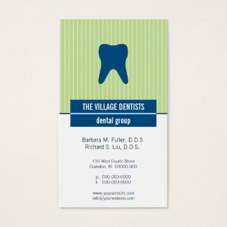 Iconographic Dental Appointment Business Card